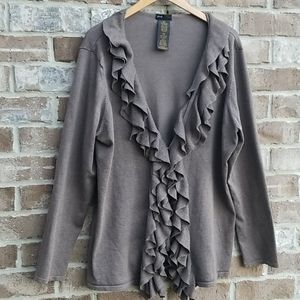 Grace Elements Cascade Ruffle Cardigan